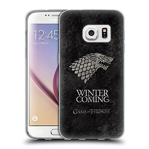 Ufficiale HBO Game Of Thrones Stark Sigilli Scuri Cover Morbida In Gel Per Samsung Galaxy S7