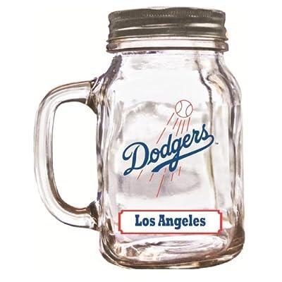 MLB Los Angeles Dodgers Duckhouse 20 Ounce Mason Jar