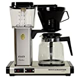 Technivorm-Moccamaster KB 741 10-Cup Coffee Brewer with Glass Carafe, Brushed Silver