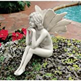 Finny the fairy statue home garden pondering sculp