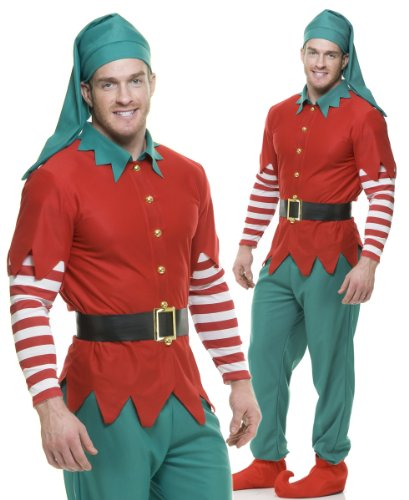 Holiday Adult Elf Costume - X-Large