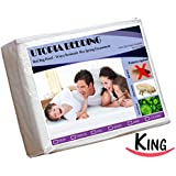 Box Spring Encasement King 3-Sided-Zipper - Bed Bug Proof, Water Resistant, Ultimate Protection against Insects, Dust Mites, Bacteria and Allergens - Preserves Expensive Box Spring Mattress - Hotel Quality Exceptionally Durable by Utopia Bedding