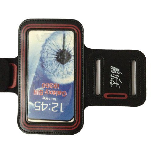 Black-Red Gym Running Sport Armband Case Compatible With Samsung Galaxy S3 Siii I9300 Armbands