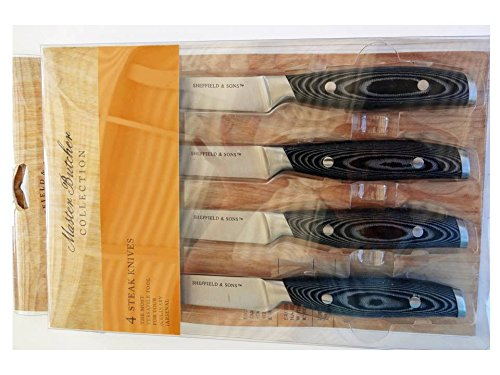 Sheffield & Sons Master Butcher Collection 4 Steak Knives