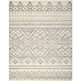 Safavieh Adirondack Collection ADR107B Ivory and Silver Area Rug, 9 feet by 12 feet (9' x 12')