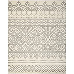 Safavieh Adirondack Collection ADR107B Ivory and Silver Area Rug, 5 feet 1 inches by 7 feet 6 inches (5\'1\