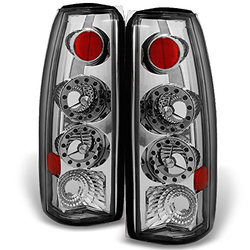 Chevy C/K 1500 Models & C10 GMC Sierra Yukon Pickup Truck LED Chrome Tail Light Relacement Pair Set (Tail Lights 97 Chevy K1500 Truck compare prices)