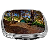 Rikki Knight Compact Mirror, Camping Site At Night, 3 Ounce