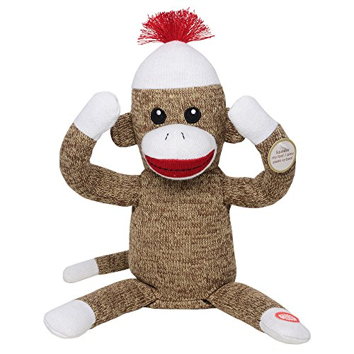 Baby Starters Peekaboo Sock Monkey Toy, Brown