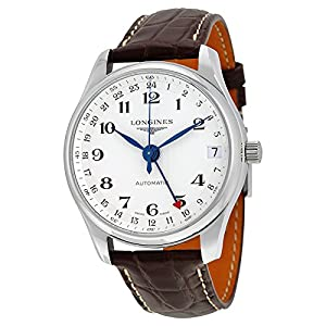 Longines Master Collection Automatic GMT Silver Dial Brown Leather Mens Watch L2.718.4.70.3