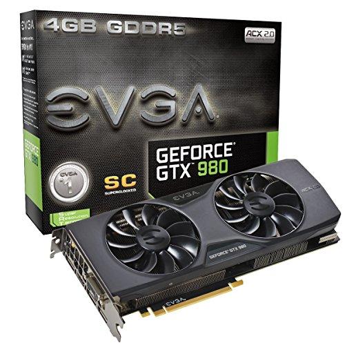 EVGA GTX980 SC ACX 4GB D5 Scheda Grafica Nvidia GeForce GTX 980 1266 MHz 4096 Mo PCI-Express