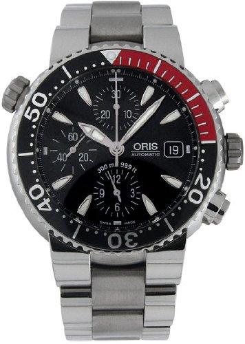 Oris Men's 674 7542 7154MB Divers Titan Chronograph Automatic Watch