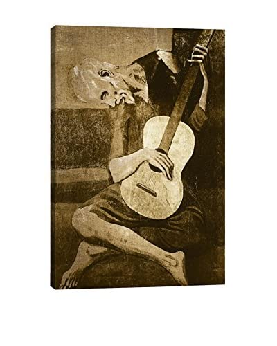 The Old Guitarist I Gallery Wrapped Canvas Print