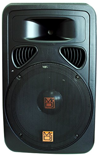 Mr. Dj Pp-3000Bt 15-Inch 3000-Watt Max Power Speaker With Built-In Lcd/Mp3/Usb/Sd And Bluetooth