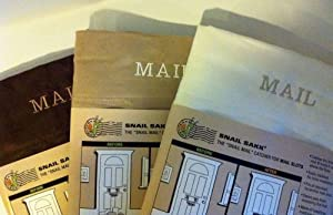 SNAIL SAKK: Mail Catcher for Mail Slots - CHOCOLATE