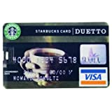8GB USB Flash Drive Starbucks Pattern Visa Card Size 8G Memory Stick U Disk ~ PA