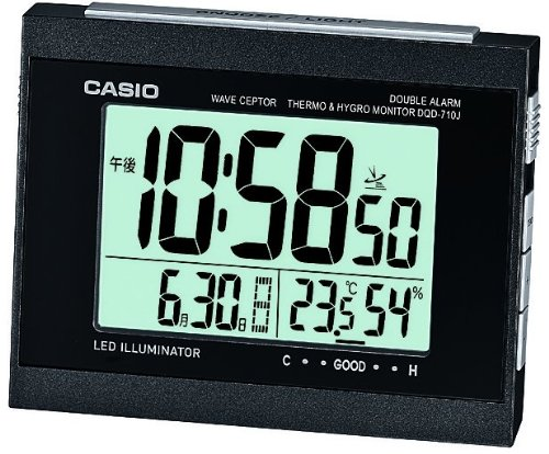 CASIO (CASIO) radio digital alarm clock temperature / humidity display black DQD-710J-1JF DQD-710J-1JF