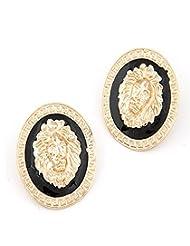 Cinderella Black Gold Earrings For Women - B00QYVDYQG