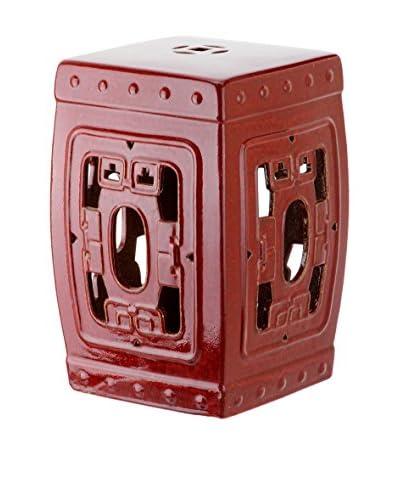 Safavieh Dynasty Filigree Garden Stool, Antique Red
