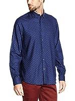 Pedro del Hierro Camisa Hombre Italprint Geo Navy T-Spre (Azul)