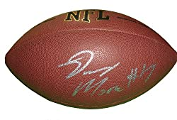 Oakland Raiders Denarius Moore Autographed NFL Wilson Composite Football, Proof Photo
