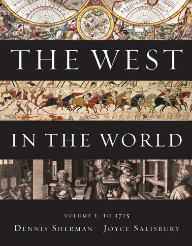 The West In The World, Volume I: To 1715 front-899675