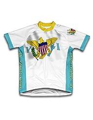 Virgin Islands - US Flag Short Sleeve Cycling Jersey for Women