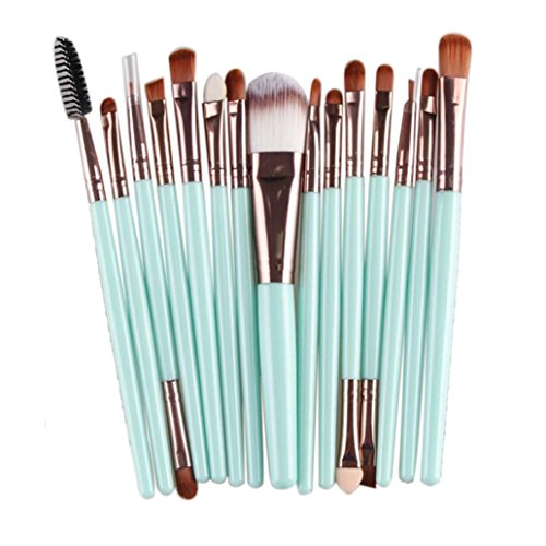 Tenworld 15 pcs Makeup Brush Set Tools Make-up Toiletry Kit Wool Make Up Brush Set (Maquillaje Natural compare prices)