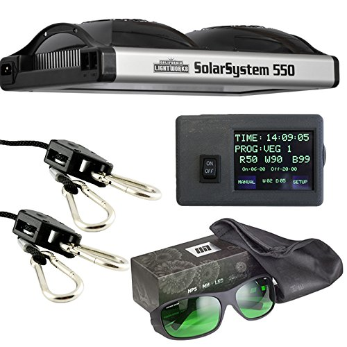 California-Lightworks-Solar-System-550-Controller-Method-Seven-LED-Glasses-Ratchet-Ropes-Grow-Light-Fixture-400w-LED-Commercial-Lighting-System