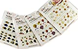 Sea Shell & Fish Nail Art Water Tattoo Sticker - 4 pack Mixed Design with Bonus