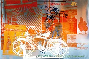 Bicycle, National Gallery, Art Poster by Robert Rauschenberg