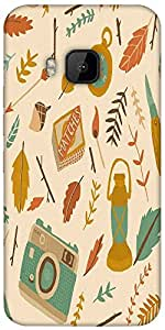 Snoogg Traveller Pattern Designer Protective Back Case Cover For Htc One M9
