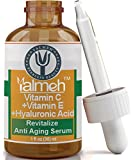 YALMEH Vitamin C Serum For Your Face With Vitamin E & Hyaluronic Acid, Organic Vitamin C + Amino, Undiluted, No Fillers, 100% Vegan