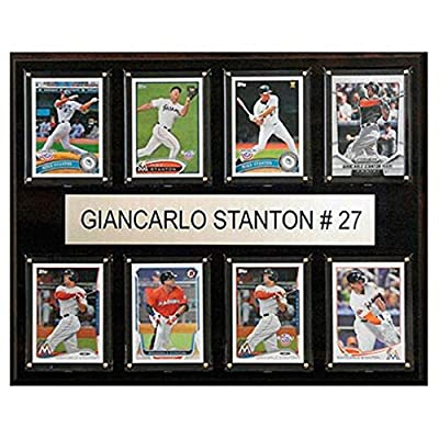 C and I Collectables MLB 15W x 12H in. Giancarlo Stanton Miami Marlins 8 Card Plaque