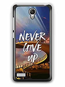 YuBingo Never Give Up Designer Mobile Case Back Cover for Xiaomi Redmi Note