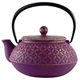 Seven Jewels Purple Tetsubin Teapot