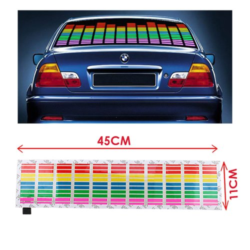 Image® Car Vehicle Sound Music Rhythm Activated Equalizer Glow Flashing Decorative Led Light Stickers 45 X 11Cm 12V Multicolor