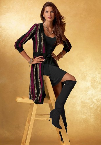 Cardigan Sweater Dress Set