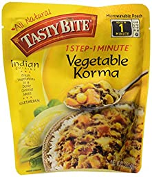 Tasty Bite Indian Entrée, Vegetable Korma, 10 Ounce (Pack of 6)