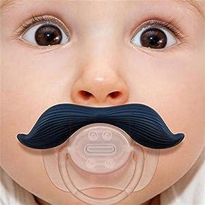 Hangqiao Infantil Chupete divertido Joven BebšŠ ortodoncia Pezones Negro Bigote Barba de Hangqiao - BebeHogar.com