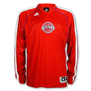 Detroit Pistons Road On-Court Long-Sleeve Shooter Jersey by Detroit Athletic Co