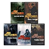 Jim Butcher The Dresden Files Series Collection 5 Books Set By Jim Butcher, (Ghost Story, Turn Coat, Storm Front, Blood Rites and Small Favour)