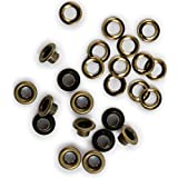 Eyelet and Washer - Brass - 60 Pieces (30 eyelets & 30 washers)