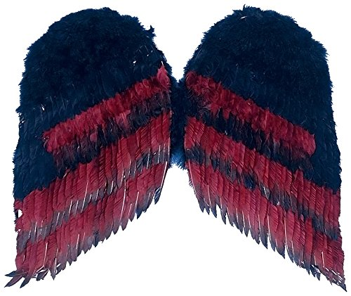 Forum Novelties Women's 36-Inch Gothic Wings, Black/Burgundy, One Size