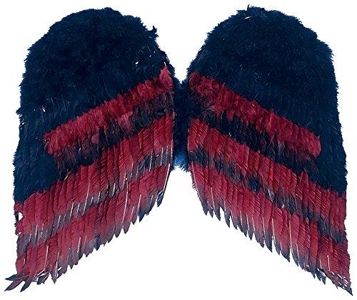 Forum Novelties Women's 36-Inch Gothic Wings, Black/Burgundy, One Size