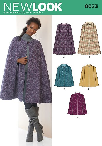 New Look Sewing Pattern 6073 Misses Cape, Size-A (New Sewing Patterns compare prices)