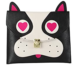 Betsey Johnson Pug, Black, Clutch One Size
