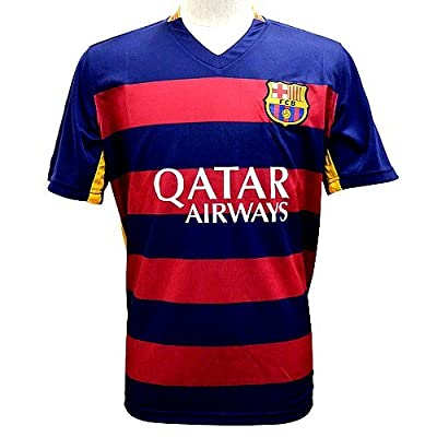 FC Barcelona Messi Home Soccer Jersey 2015 Football Shirts