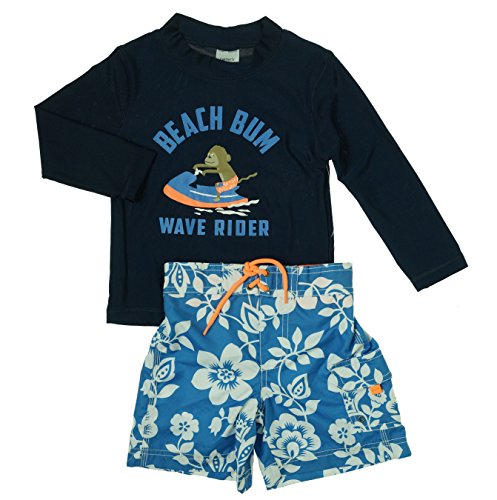 Carter's Baby Boys' Beach Bum Rashguard Set, Navy, 18 Months