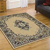 Element Lancaster Runner - Polypropylene - Easy Clean - W 60 x L 220cm - Beige by Flair Rugs